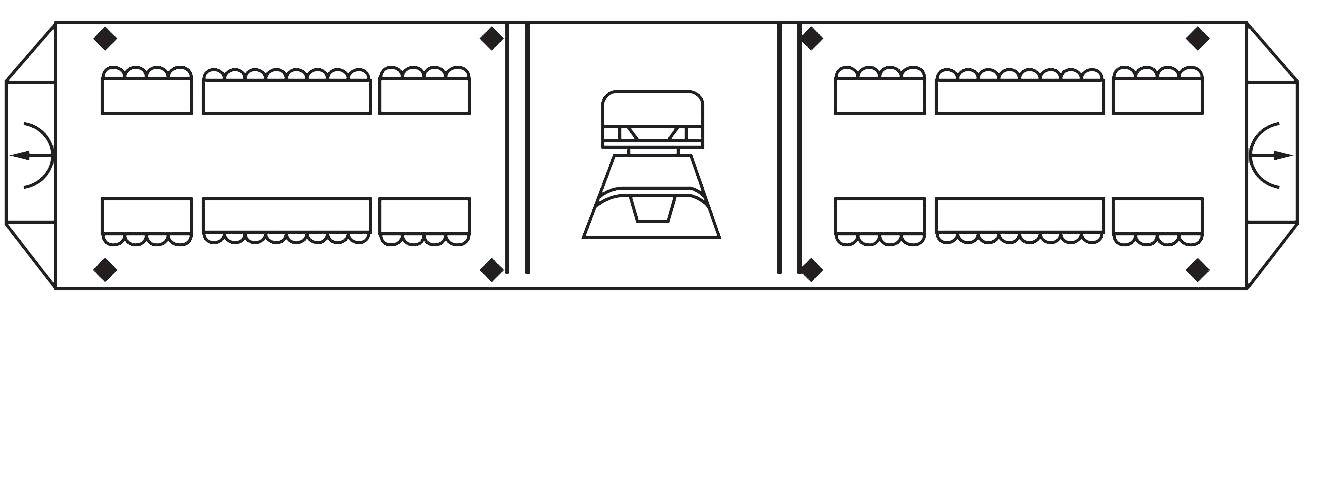 tbd-jt-83l2菱形led频闪交通灯【长排警灯】